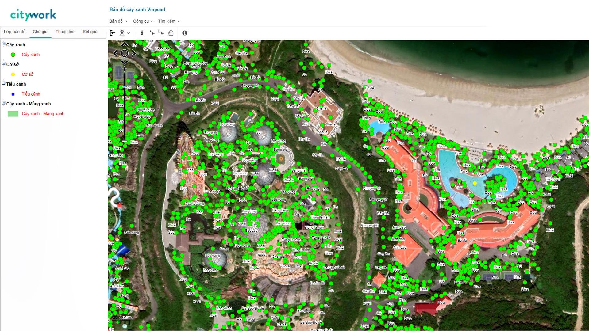 showcase-Bản đồ cây xanh Vinpearl