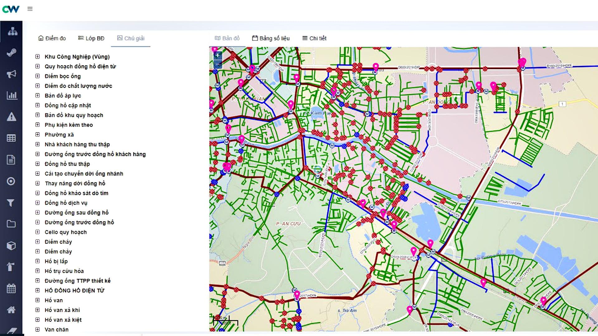 showcase-Giám sát vận hành trên bản đồ
