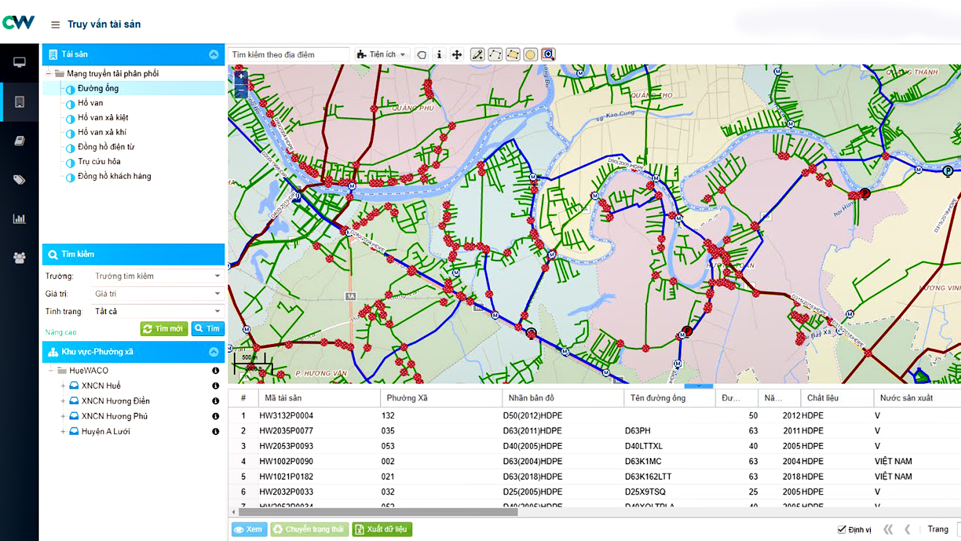 showcase-Ứng dụng bản đồ trong quản lý tài sản