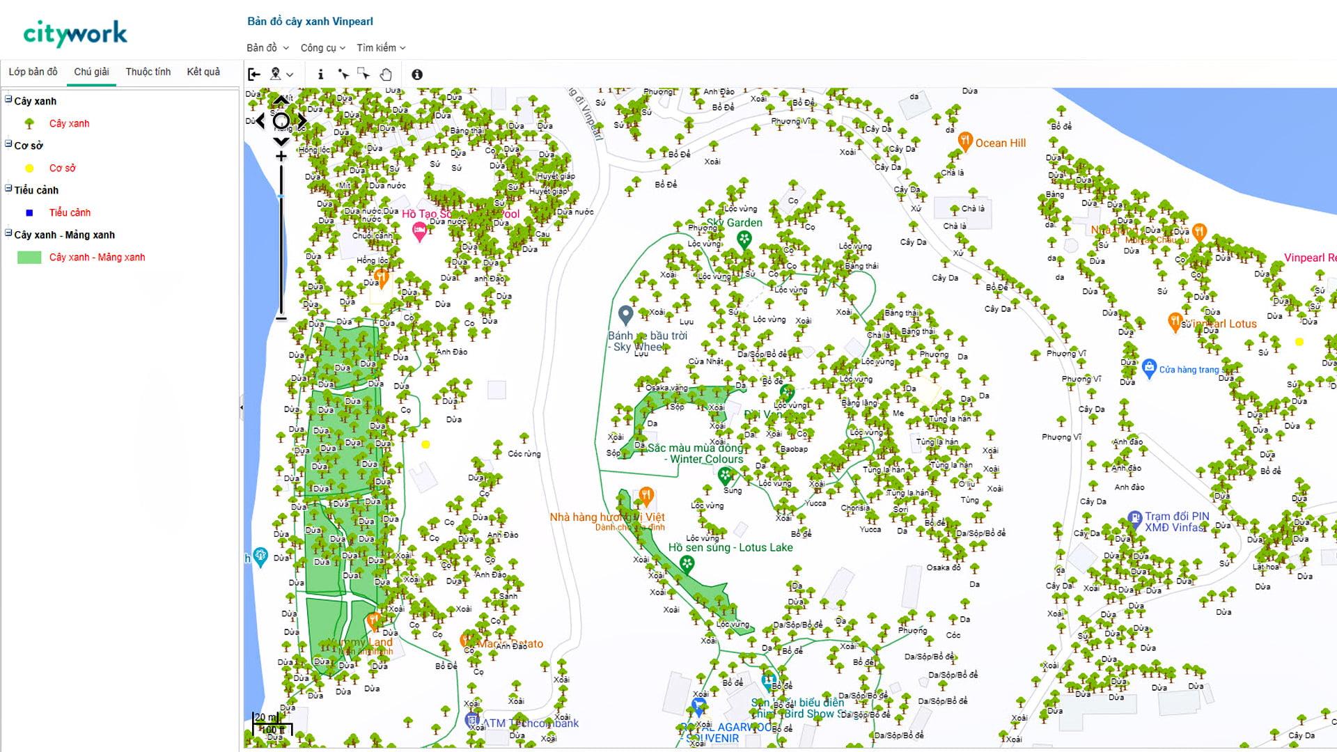 showcase-eKMap Editor được áp dụng để biên tập, cập nhật bản đồ cây xanh