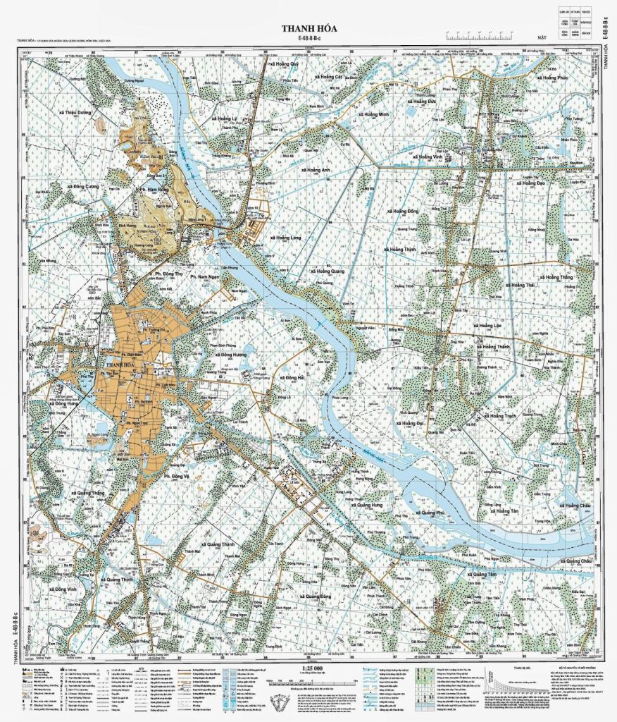 Bản đồ thể hiện địa hình tỉnh Thanh Hóa