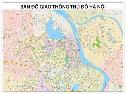 Bản đồ giao thông thủ đô Hà Nội