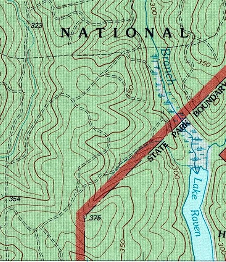 Màu sắc các địa hình khác nhau trên bản đồ