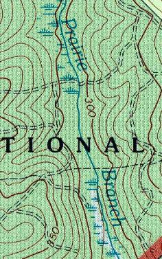Các ký hiệu bóng đổ trên bản đồ địa hình
