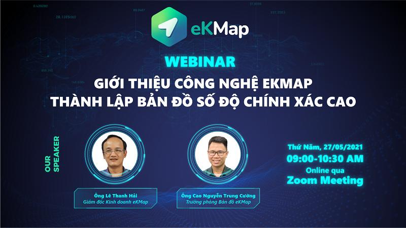 [TCBC] Webinar: Giới thiệu công nghệ eKMap thành lập bản đồ số độ chính xác cao