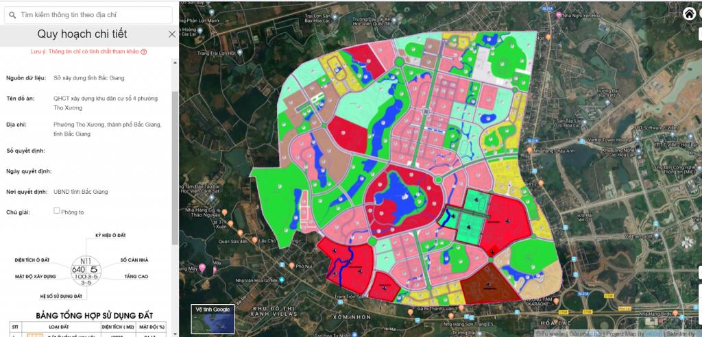 Thông tin quy hoạch dự án bất động sản