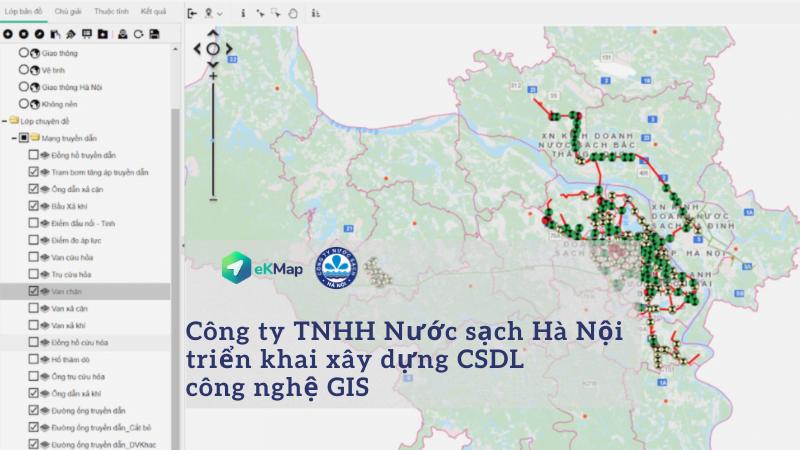 Công ty nước sạch Hà Nội ứng dụng công nghệ GIS quản lý, phân phối mạng lưới cấp nước