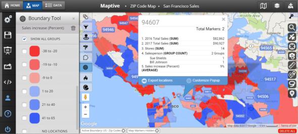 Lập kế hoạch mở rộng khu vực kinh doanh thương mại trên bản đồ