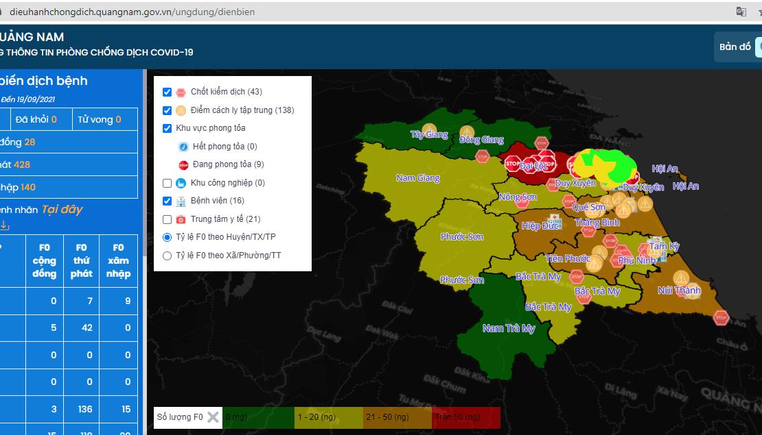 [Báo Quảng Nam] Quảng Nam hoàn thiện bản đồ Covid-19 của eKMap trong phòng, chống dịch bệnh